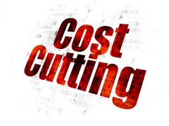 Business concept: Cost Cutting on Digital background Stock Illustration