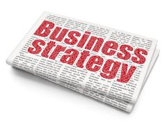 Finance concept: Business Strategy on Newspaper background Piirros