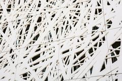 Futuristic wall design in the cobweb form Stock Photos