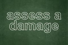 Insurance concept: Assess A Damage on chalkboard background Stock Illustration