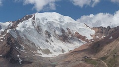 Snow Peak Clouds Blue Sky 4K Time Lapse Stock Footage