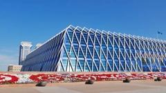Astana, Kazakhstan - Palace of Independence Stock Footage