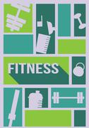 Bodybuilding Fitness Flyer - Vector Illustration Stock Illustration