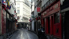 Rue des Francs-Bourgeois Le Marais's district Paris. Stock Footage