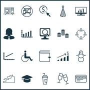 Set Of 20 Universal Editable Icons. Can Be Used For Web, Mobile And App Desig Piirros
