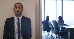 4K Nervous candidate waiting to be seen for job interview in corporate company Stock Footage