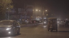 Wide Shot of the city, Hyderabad, Pakistan Stock Footage