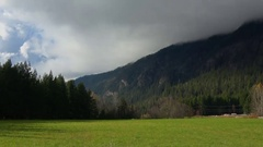 Establishing shot, peaceful valley farm #2 Stock Footage