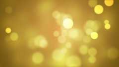 Yellow Glitter Lights Stock Footage