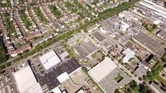 Frankfurt Aerial 4k Footage Stock Footage