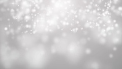 White Glitter Bokeh Lights And Stars Stock Footage