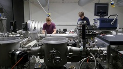 Research group of the Laser and Plasma Physics Laboratory Stock Footage