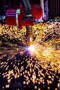 CNC Laser plasma cutting of metal, modern industrial technology. Kuvituskuvat