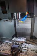 Metalworking CNC milling machine. Stock Photos