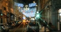 Paris Christmas Shopping night Stock Footage