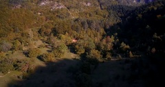 Aerial, Mountainous Forest, Autumn, Montenegro - Graded and stabilized versio Stock Footage