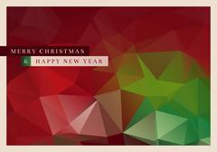 Polygon Christmas Greeting Card Stock Illustration