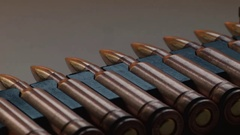 Large Caliber Ammunition, macro Stock Footage