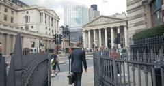 City of London workers at Bank, London, England Stock Footage
