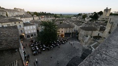 General view of the Saint Emilion, Dordogne, Aquitaine, France. Stock Footage