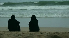 Quiet afternoon on the beach Stock Footage