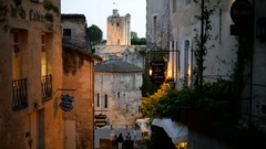 Street of the Saint Emilion, Dordogne, Aquitaine, France. Stock Footage