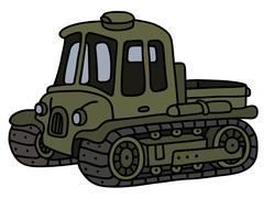 Vintage artillery tractor Stock Illustration