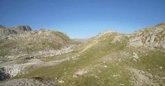 Aerial, Mountainous And Stony Landscape At Kuck Mountains, Montenegro Stock Footage