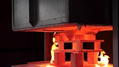 Opening the kiln Gas Stock Footage