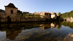 Brantome, France Stock Footage