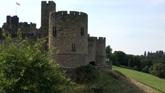 Great Britain England Alnwick Castle in the county of Northumberland Stock Footage