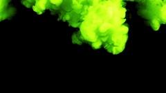 Neon Green Smoke In Slow Motion - 13 Stock Footage