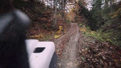 Autumn Off-Road in the Mountains Stock Footage