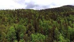 Alp Mountain Aerial Stock Footage