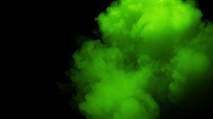 Neon Green Smoke In Slow Motion - 24 Stock Footage