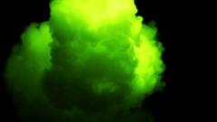 Neon Green Smoke In Slow Motion - 26 Stock Footage