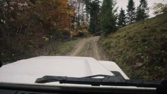 Off-road ride, stady shot Stock Footage