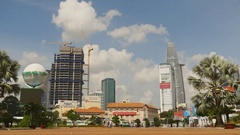 SAIGON, VIETNAM -The area in Ho Chi Minh City. Skyscrapers Stock Footage