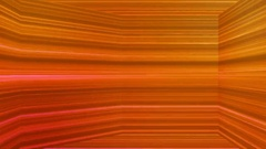 Broadcast Horizontal Hi-Tech Lines Dome, Orange, Abstract, Loopable, 4K Stock Footage