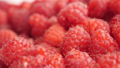 Rubus idaeus  natural vitamin and  antioxidant fruit background slow tilt 4K Stock Footage