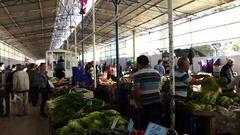 Fethiye Turkey Market Detail Stock Footage