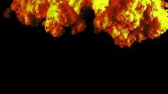Neon Orange Smoke In Slow Motion - 18 Stock Footage