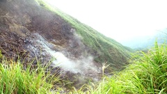 4K A Fragment Of The Smoking Crater Of The Volcano Shot in Taiwan-Dan Stock Footage