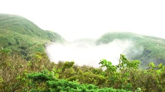 4K Mountains of Hot Geothermal Spring In Yang Ming Shan National Park-Dan Stock Footage