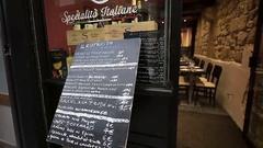 Italian menu at restaurant Stock Footage