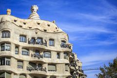 Casa Mila by Antonio Gaudi, Barcelona, Spain Stock Photos
