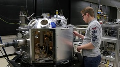 Researcher in the Laser and Plasma Physics Laboratory Stock Footage