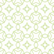 Tile vector pattern or green and white background Stock Illustration