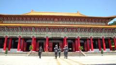 4K Taiwanese soldiers changing of the guard at National Shrine of  Martyrs-Dan Stock Footage