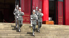 4K Taiwanese soldiers changing of the guard in National Shrine of Martyrs -Dan Stock Footage